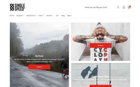 Screenshot of Home Page single-speed.co.uk - Single Speed Co.                 – Single speed and fixed gear urban bike company - captured Oct. 2, 2018