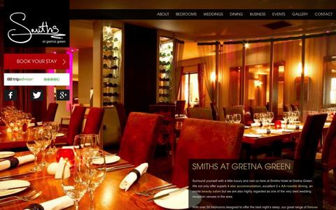 Screenshot of Home Page smithsgretnagreen.com - Smiths at Gretna Green 4 Star Luxury Hotel Accommodation & Weddings - captured Oct. 8, 2014