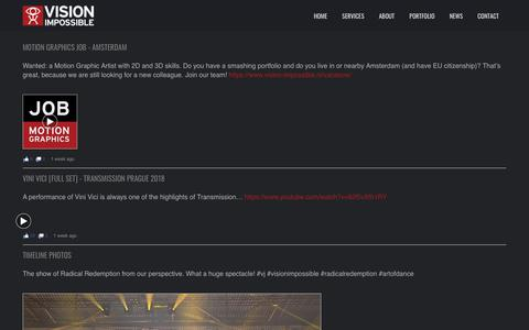 Screenshot of Press Page vision-impossible.nl - News – Vision Impossible - captured Nov. 18, 2018