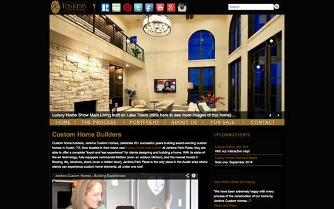 Screenshot of Home Page Site Map Page newhousebuilder.com - Luxury Custom Home Builders Austin TX | Jenkins Custom Homes - captured Oct. 6, 2014