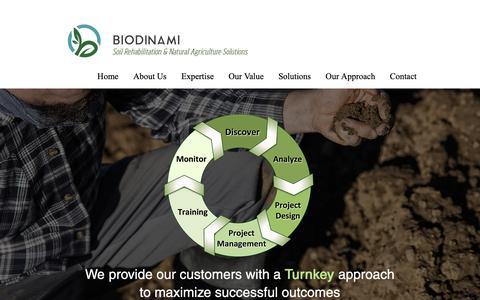 Screenshot of Services Page biodinami.com - | Services - captured Oct. 5, 2018