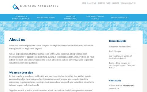 Screenshot of About Page conatusassociates.co.uk - Conatus Associates Limited | About us - Conatus Associates Limited - captured Aug. 9, 2016