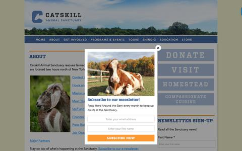 Screenshot of About Page casanctuary.org - About | Catskill Animal Sanctuary - captured July 17, 2017