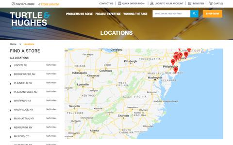 Screenshot of Locations Page turtle.com - Locations | Turtle & Hughes - captured Oct. 20, 2018