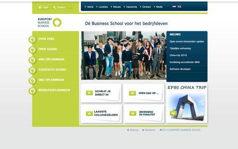 Screenshot of Home Page epbs.nl - EPBS - Home - captured Nov. 10, 2016