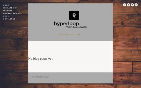 Screenshot of Press Page hyperloop.co.za - News — Hyperloop - captured Sept. 30, 2014