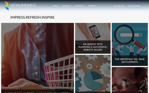 Screenshot of Blog newlineinfo.com - Newlineinfo | Blog - captured Nov. 15, 2018