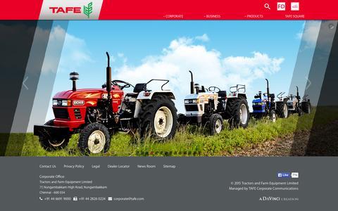 Screenshot of Home Page tafe.com - TAFE - captured Aug. 7, 2015
