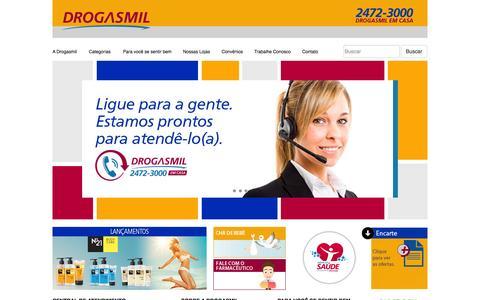 Screenshot of Home Page drogasmil.com.br - Drogasmil - captured Oct. 1, 2014