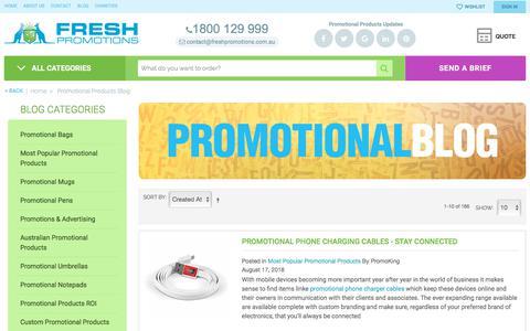 Screenshot of Blog freshpromotions.com.au - Promotional Products Blog - captured Aug. 30, 2018