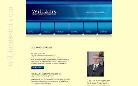 Screenshot of Menu Page williams-im.com - Williams Investment Management, 34 Victoria Avenue, Harrogate, North Yorkshire. - captured Feb. 23, 2016