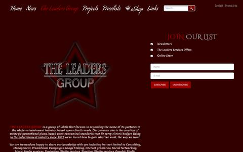 Screenshot of Services Page theleaders.eu - Services - THE LEADERS RECORDS HEAVY METAL ROCK MUSIC BAND PROMOTION MANAGEMENT - captured Jan. 11, 2016