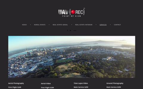 Screenshot of Services Page 4ormat.com - UAVREC - Services - captured Oct. 10, 2014