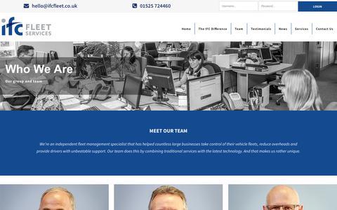 Screenshot of Team Page ifcfleet.co.uk - Team  » IFC Fleet Services - captured Oct. 1, 2018