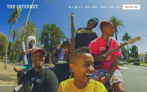 Screenshot of Home Page internet-band.com - THE INTERNET - captured Oct. 7, 2015