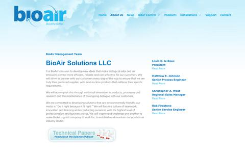 Screenshot of About Page bioairsolutions.com - BioAir Solutions LLC | BioAir Solutions, LLC - captured Oct. 10, 2017