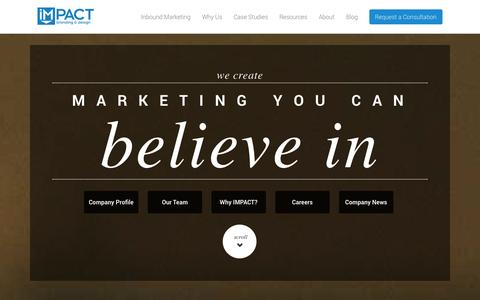 Screenshot of About Page impactbnd.com - About IMPACT   Inbound Marketing Agency - captured Sept. 18, 2014