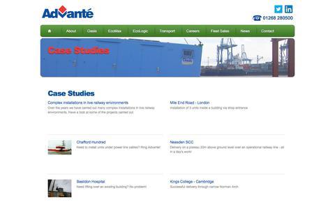 Screenshot of Case Studies Page advante.co.uk - Advanté's Case Studies - captured Oct. 7, 2017