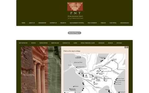 Screenshot of Maps & Directions Page petranationaltrust.org - Petra National Trust - captured Nov. 5, 2016