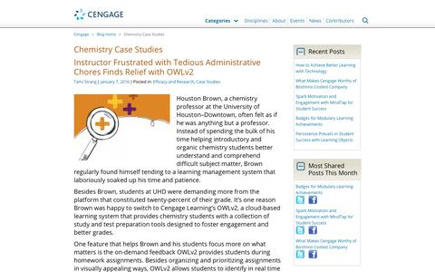 Screenshot of Case Studies Page cengage.com - Chemistry Case Studies Archives - Cengage Blog - captured Aug. 4, 2017