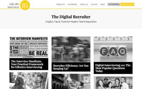 Screenshot of Blog taketheinterview.com - Take the Interview - The Digital Recruiter - captured Oct. 25, 2016