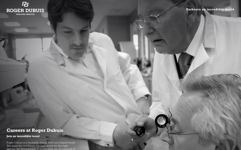 Screenshot of Jobs Page rogerdubuis.com - Careers At Roger Dubuis | Roger Dubuis - captured Sept. 25, 2014