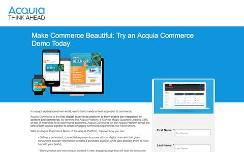 Screenshot of Landing Page acquia.com - Accounting Software - captured Oct. 22, 2016