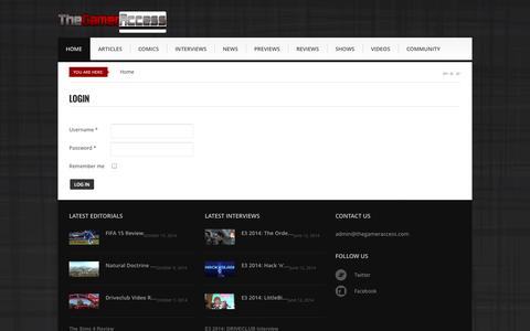 Screenshot of Login Page thegameraccess.com - The Gamer Access - The Gamer Access - TheGamerAccess.com - captured Oct. 29, 2014