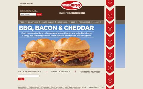 Screenshot of Home Page smashburger.com - Burgers, Cheeseburgers & Fast Casual Dining Restaurants | Smashburger - captured July 11, 2014