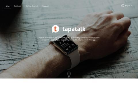 Screenshot of Home Page tapatalk.com - Tapatalk - captured May 8, 2017