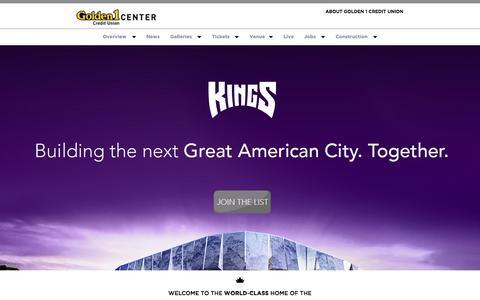 Screenshot of Home Page golden1center.com - Golden 1 Center - captured Sept. 29, 2015