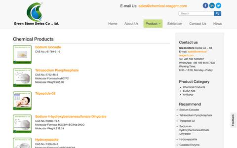 Screenshot of Products Page chemical-reagent.com - Buy Chemical Products - Lab chemical reagents   Chemical raw material manufacture on chemical-reagent.com - captured Oct. 30, 2018