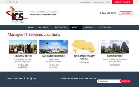 Screenshot of Locations Page ics-com.net - Managed IT Services Locations   ICS Communications - captured Nov. 26, 2016