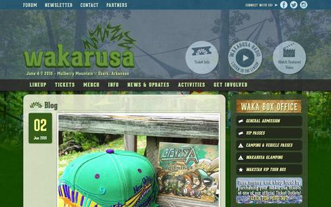 Screenshot of Blog wakarusa.com - Blog - Wakarusa Music Festival - captured Dec. 4, 2015