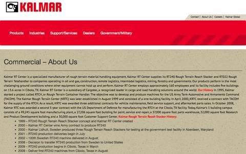 Screenshot of About Page kalmarrt.com - Commercial – About Us | Kalmar RT - captured Oct. 6, 2014