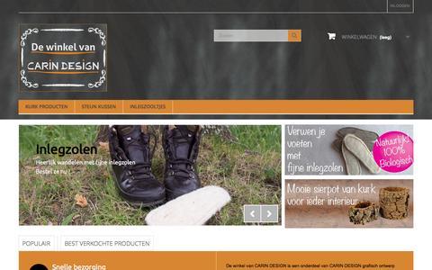 Screenshot of Home Page carindesign.eu - de winkel van CARIN DESIGN - captured Jan. 26, 2015