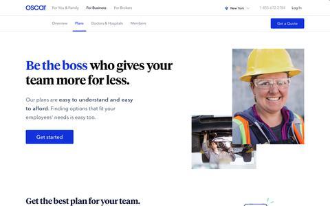 Business - Plans | Oscar Health
