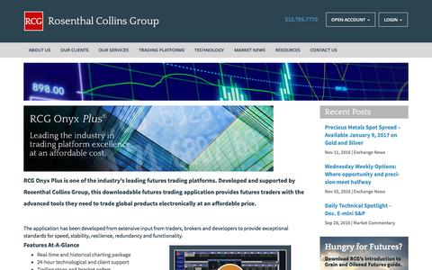Screenshot of Trial Page rcgdirect.com - RCG Onyx Plus--Rosenthal Collins Group - captured Dec. 3, 2016