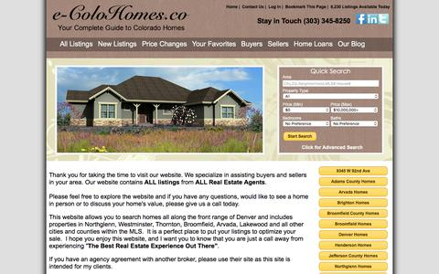 Screenshot of Home Page conveyanceco.com - Denver and the Front Range Homes for Sale - captured Jan. 31, 2016