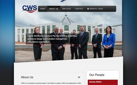 Screenshot of About Page cws.com.au - About Us - captured Oct. 20, 2016