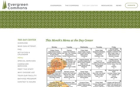 Screenshot of Menu Page evergreencommons.org - Menu — Evergreen - captured Nov. 5, 2018