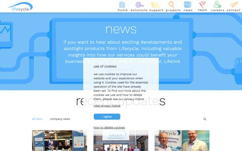 Screenshot of Press Page lifecycle-software.com - Lifecycle Software | news - captured Dec. 15, 2018