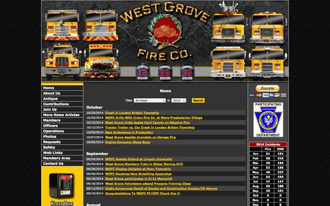 Screenshot of Press Page wgfc.org - - West Grove Fire Company - captured Oct. 26, 2014