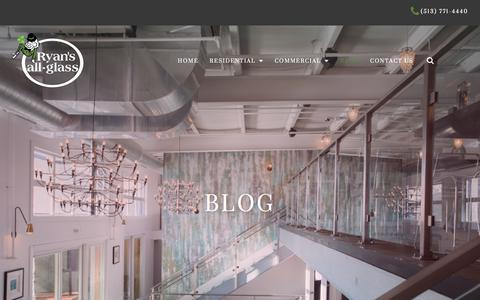 Screenshot of Blog ryansallglass.com - Blog | Ryan's All-Glass - captured Sept. 21, 2018