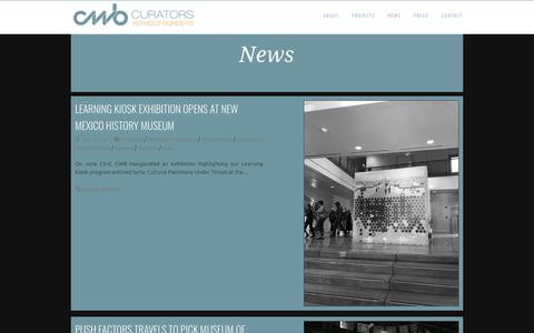 Screenshot of Press Page curatorswithoutborders.org - CWB - captured Sept. 30, 2018