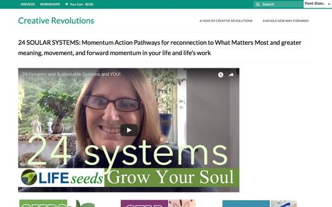 Screenshot of Maps & Directions Page creativerevolutions.com - 24 SOULAR SYSTEMS: Momentum Action Pathways for reconnection to What Matters Most and greater meaning, movement, and forward momentum in your life and life's work - Creative Revolutions - captured Sept. 9, 2017