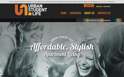 Screenshot of About Page urbanstudentlife.com - Urban Student Life | Luxury Student Accommodation Canterbury | Study Pods Liverpool and Leeds - captured Sept. 20, 2018