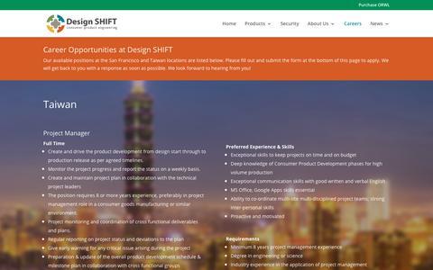 Screenshot of Jobs Page design-shift.com - Careers   Design SHIFT - captured Aug. 6, 2018