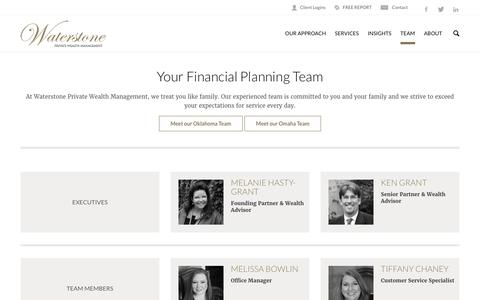 Screenshot of Team Page waterstonewealth.com - Your Financial Planning Team | Waterstone Private Wealth Management - captured Oct. 25, 2017