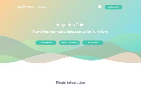 Screenshot of Developers Page payumoney.com - Payu – PayU Developer Guide - captured Sept. 21, 2018